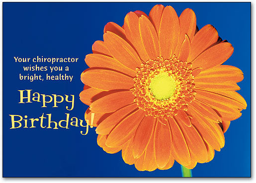 Orange Flower Birthday Postcard