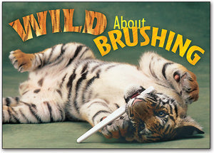 Wild About Brushing Postcard