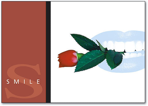 Art of Smile Red Rose Postcard