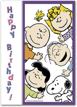 Peanuts Gang Birthday Postcard