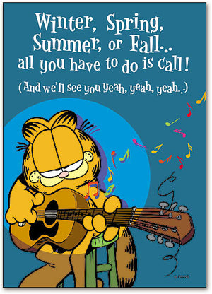 Guitar/Well See You Postcard
