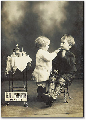 Playing Dentist Postcard