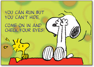Snoopy You Can Run but not Hide Postcard