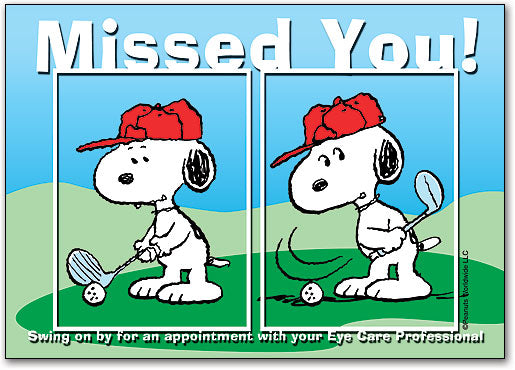 Snoopy Misses Postcard