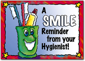 Smiling Cup with tooth brushes Postcard