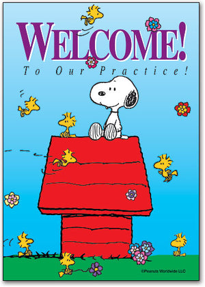 Welcome Snoopy Postcard