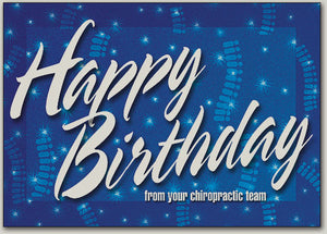 Starry Spines Birthday Postcard