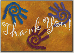 Sprial Hands Thank You Postcard