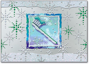 Silver Toothbrush Holiday Postcard