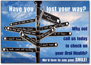 Lost Your Way Signs Postcard