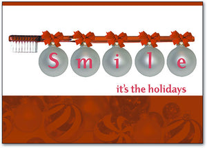 Smile Ornaments Holiday Postcard