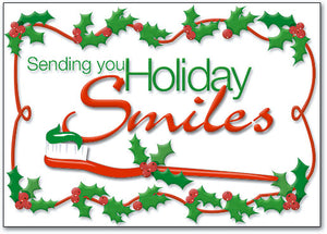 Holiday Smiles Deluxe Postcard