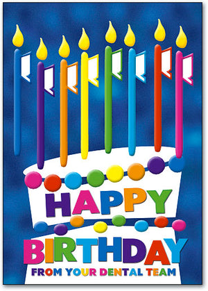 Birthday Candles Postcard