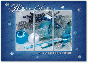 Blue Holiday Dental Postcard