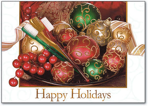 Ornament Basket Holiday Deluxe Postcard