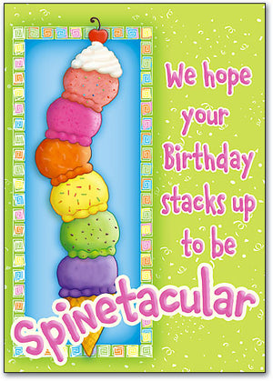 Spinetacular Birthday Postcard