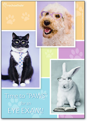Paws for Eye Exam Postcard