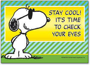 Snoopy Stay Cool Check Eyes Postcard