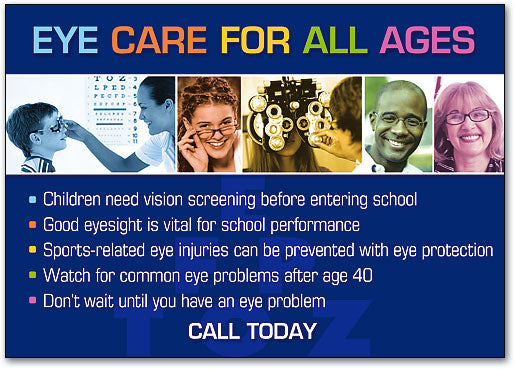 Eye Care For All Ages Postcard
