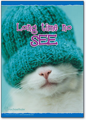 See Hat Cat Postcard