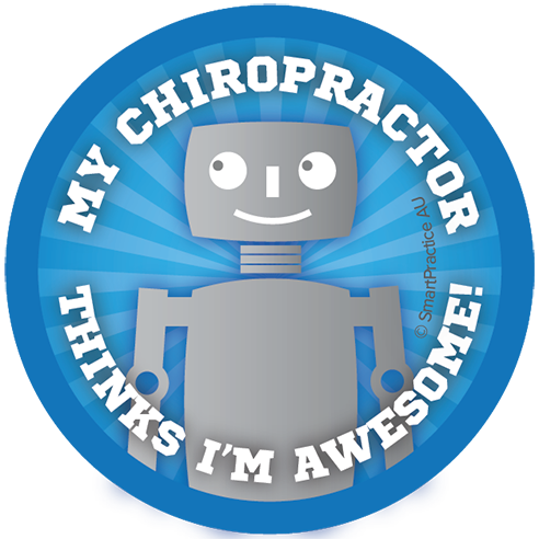 SmartPractice Australia: My chiropractor thinks i'm awesome Sticker