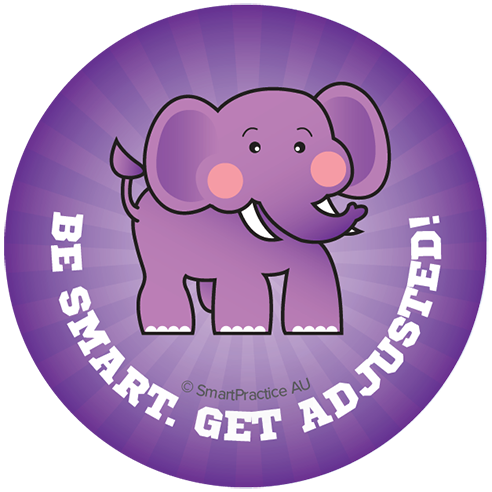 SmartPractice Australia: Be Smart, Get adjusted Sticker