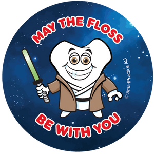 SmartPractice Australia: May The Floss Be With You Sticker