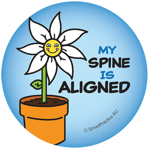 My Spine is Aligned Sticker