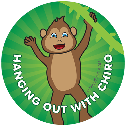 SmartPractice Australia: Hanging out with Chiro Sticker