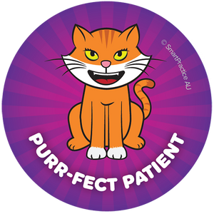 Purrfect Patient Sticker