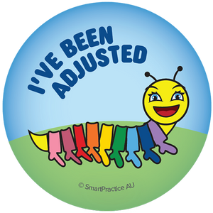 SmartPractice Australia: I've Been Adjusted Sticker