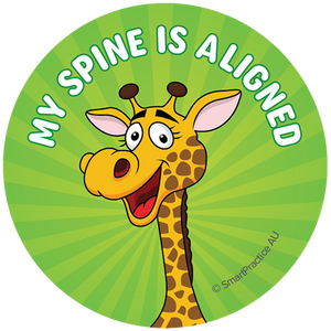 SmartPractice Australia: My Spine is Aligned Sticker