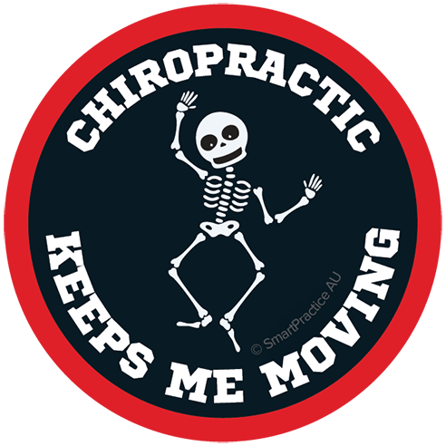 SmartPractice Australia: Chiropractic Keeps me Moving Sticker