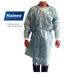 Haines AAMI Level 3 Disposable Isolation Gowns