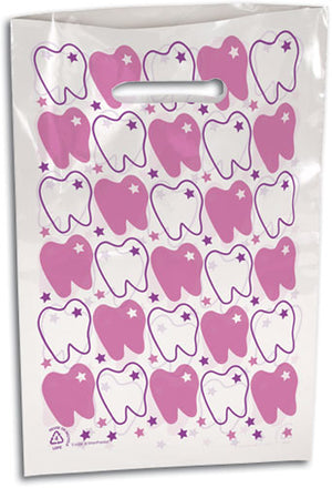 Teeth Scatter Print Supply Bag