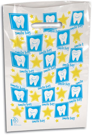 Tooth Smile Bag Scatter Print Plastic Supply Bag