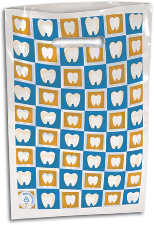 Checker Teeth Scatter Print Supply Bag Large