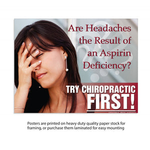 Try Chiro First Muscle relaxer deficiency - (Laminated)