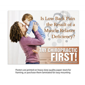 Try Chiro first Female Asprin Deficiency -  (Laminated)