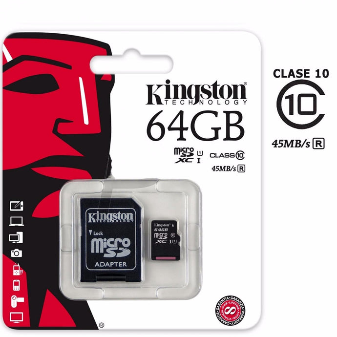 Memoria micro sd c10 64gb kingston