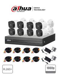 KIT 8 CANALES 1080P DAHUA TECHNOLOGY DH-KIT/ XVR1B08/8-B1A21, POLICARBONATO, 8, H265+, 1080P (2MP)