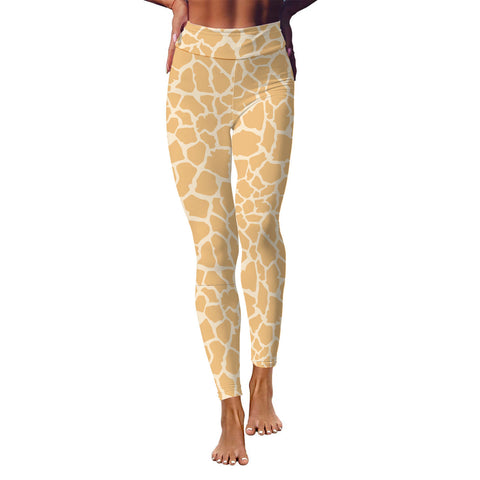 Giraffe Animal Print Yoga Leggings - Salthy