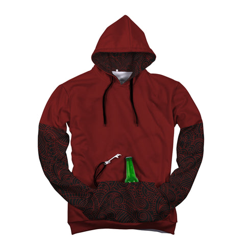 "Red Beer Hoodie ""Pop Top"""