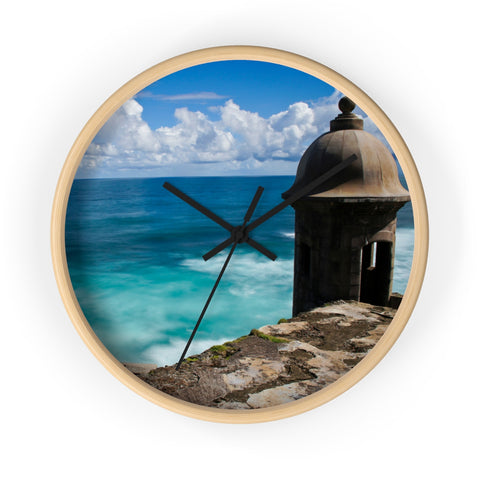 El Mar y El Morro Wall clock
