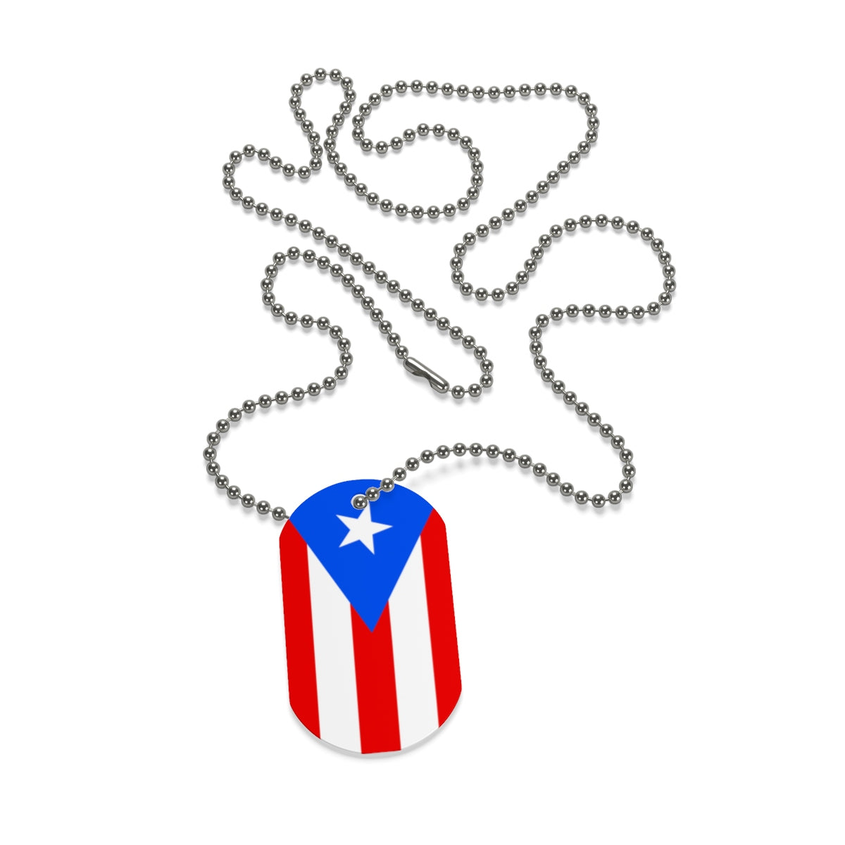 Puerto Rico Flag Dog Tag - Salthy