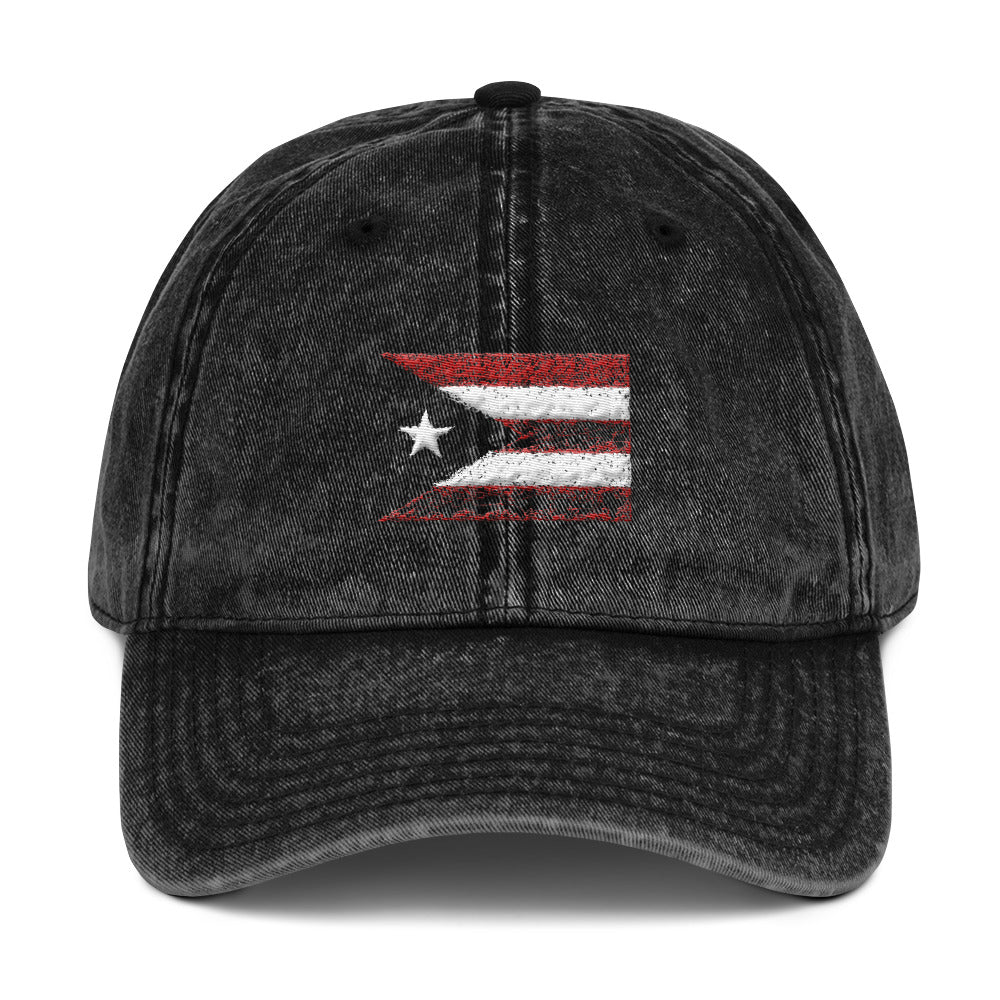 Puerto Rico Drawing Flag Vintage Cap
