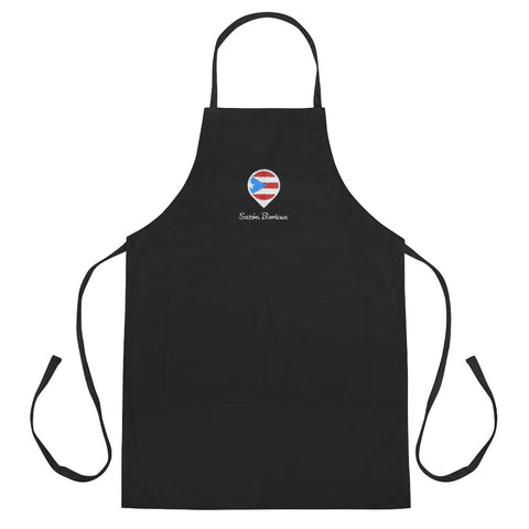 Sazón Boricua Embroidered Apron