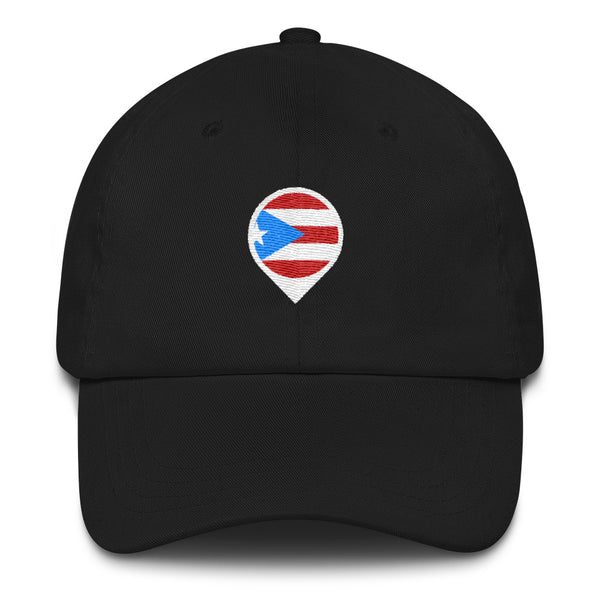 Puerto Rico Location Icon Dad hat - Salthy