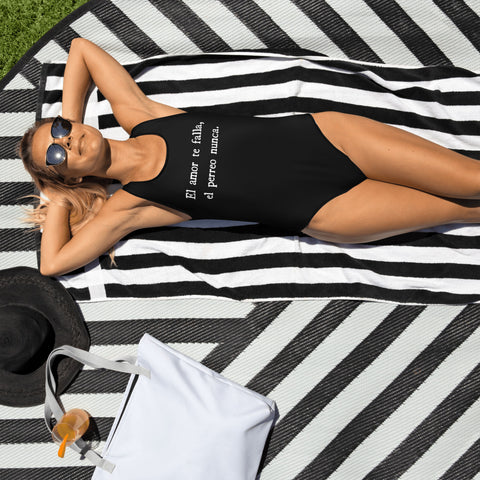 El Amor y El Perreo One-Piece Swimsuit