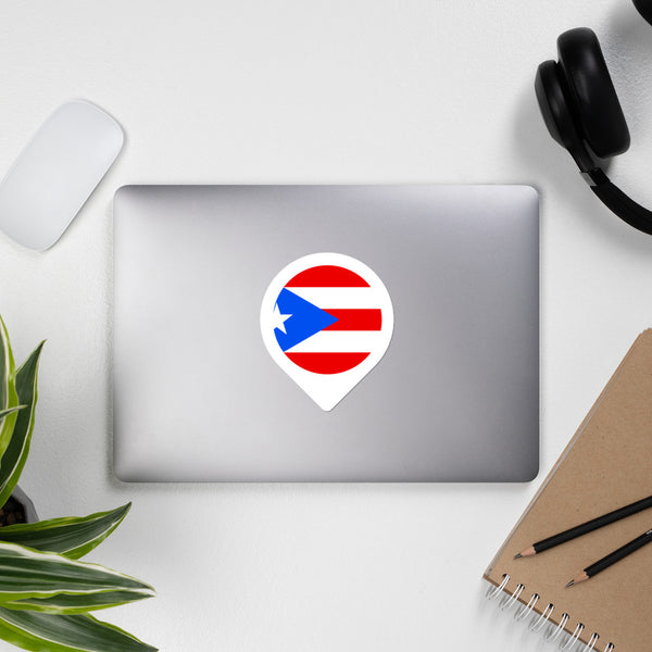 Puerto Rico Location Icon Bubble-free stickers